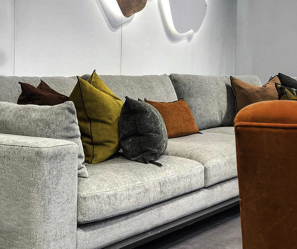 Marie's Corner sofa on display at Decorex International ©Marie's Corner