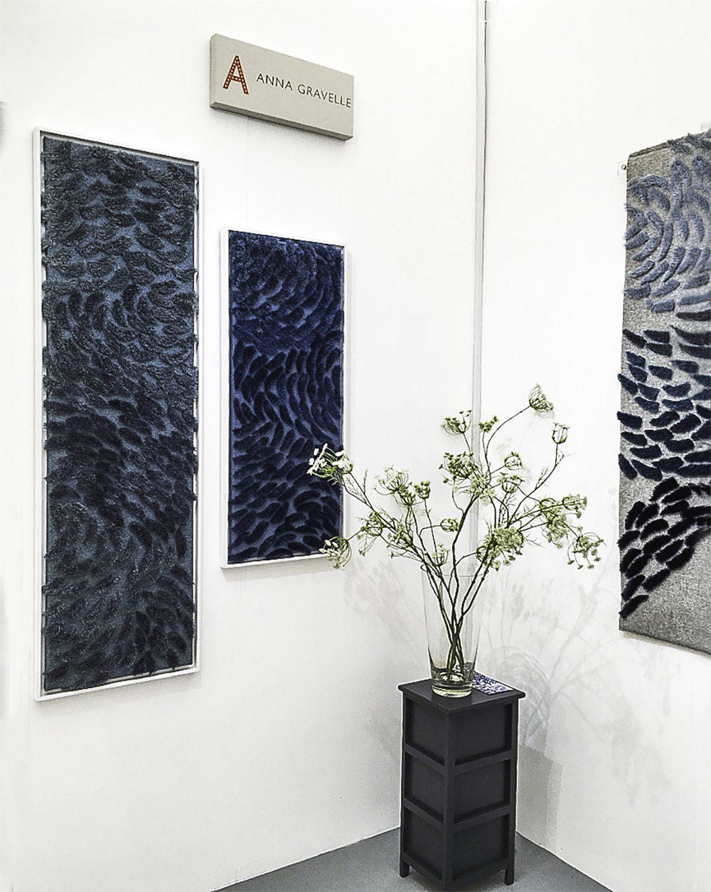 Anna Gravelle's 'Murmurations' panels at Decorex International 2018
