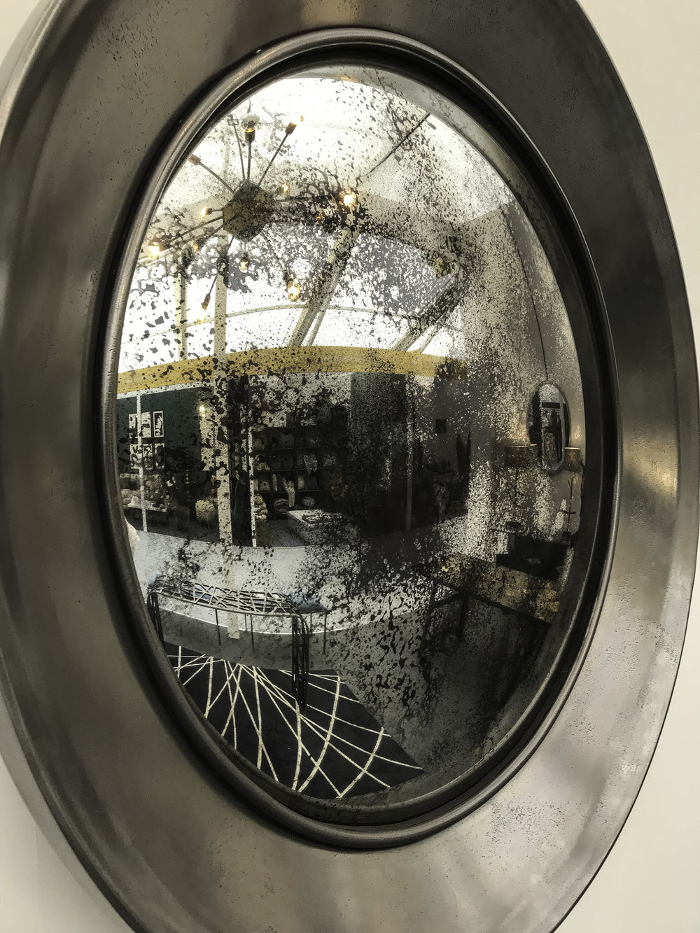 Luna  convex mirror at Decorex International 2018 ©Blackbird Bespoke