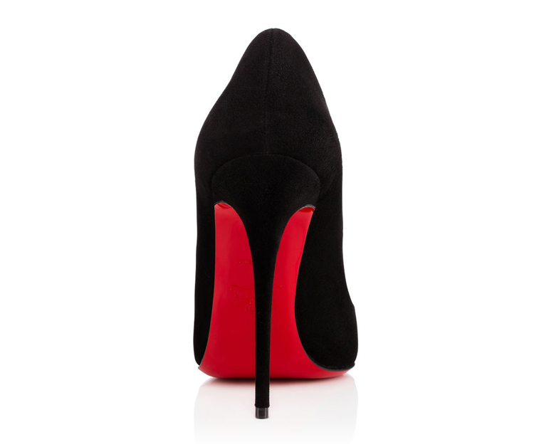 The distinctive red soles of Louboutin shoes are trademarked