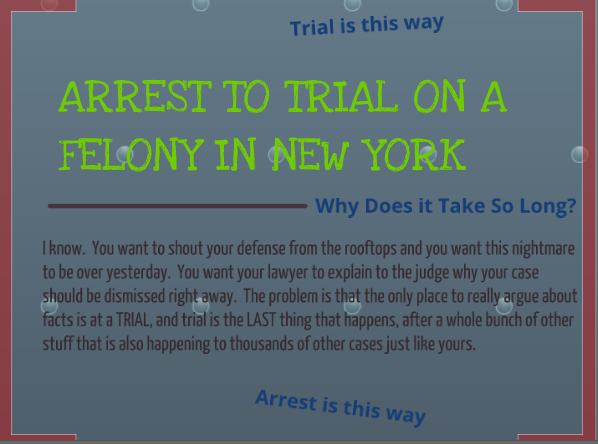"Click on the image above to view a lively online ""Prezi"" presentation narrated by Don Murray about the path of a criminal case from arrest to trial in New York City Criminal Courts."