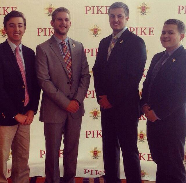 (From left) Brothers Tyler Thompson, Shelby LaFollette, Erik Eaton, and Eric Thompson at the Pike International Conference in Baltimore, where the Smythe is awarded.