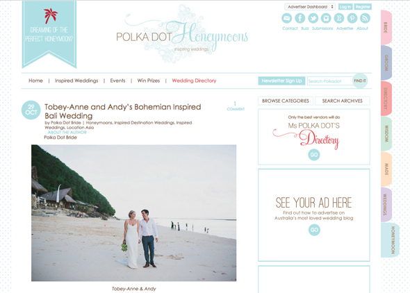 Tobey-Anne and Andy at Semara (now The Ungasan) by Terralogical.   A relaxed, bohemian-inspired wedding atop the cliffs of Uluwatu.