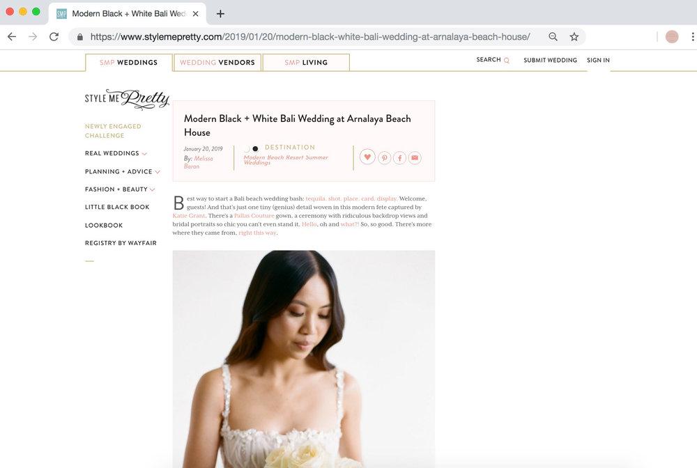 Full service wedding planning, styling & flowers