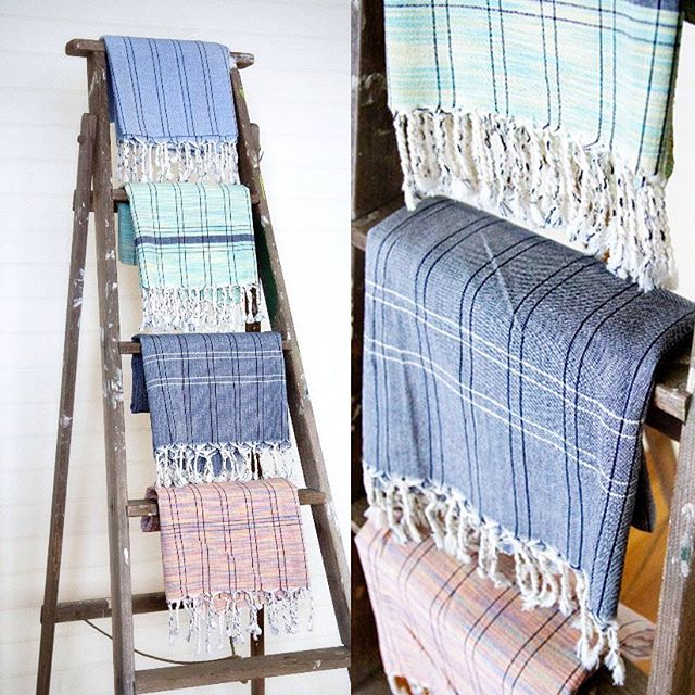 Variegated Pestamels (Turkish Towels) traditionally used in bath houses they make great bath or beach towels, sarong or scarf or even a table cloth! Available in a range of colours, 100% cotton, handmade straight from the weaver himself!  #myglobalmerchant #turky #throw #turkishtowel #weave #textile #fairtrade #cotton