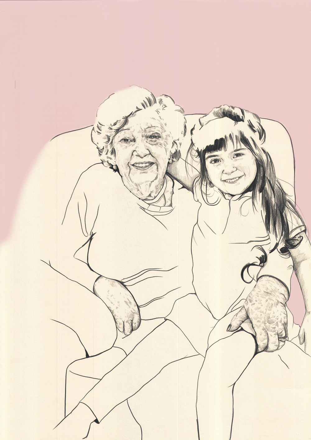 Minia Jay with her great-granddaughter Hannah