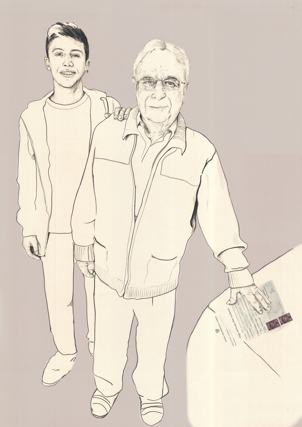 Jan Goldberger and his grandson Eden
