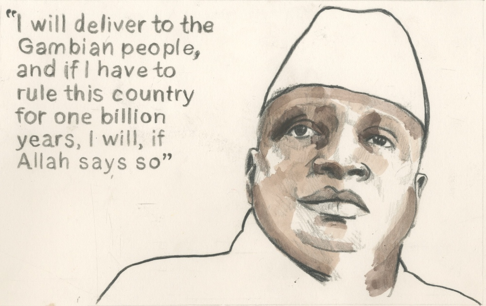 02/01/15 Mr Yahya Jammeh, President, Gambia.He cut short a trip to Dubai to prevent an attempted armed coup in the capital, Banjul