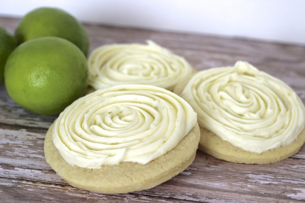 Key Lime Frosted Classic sugar cookie topped with fresh key lime cream ...