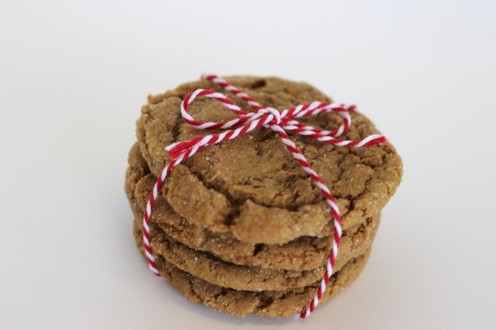 Molasses Sugar Soft molasses cookie rolled in organic sugar.