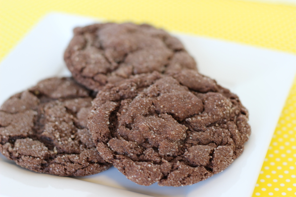 Chocodoodle Soft chocolate sugar cookie rolled in organic cinnamon and sugar.