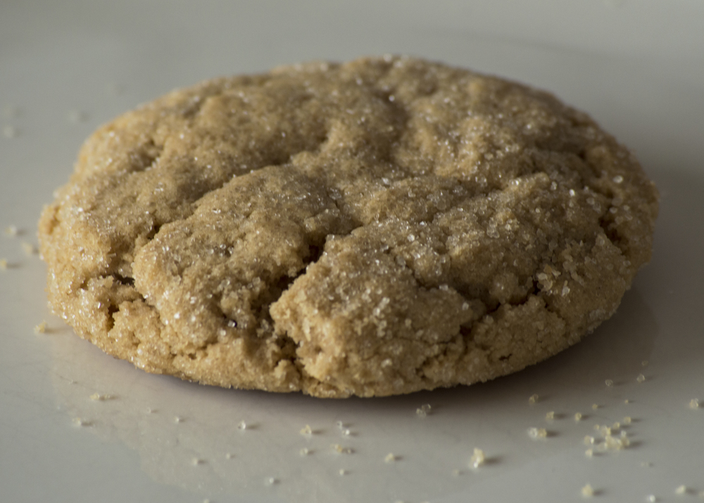 Peanut Butter Soft peanut butter sugar cookie rolled in organic sugar.