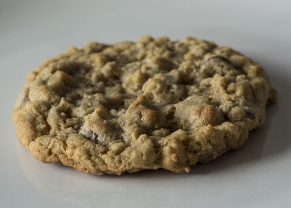 Oatmeal Chocolate Chip Soft oatmeal cookie filled with Callebaut chocolate chips.