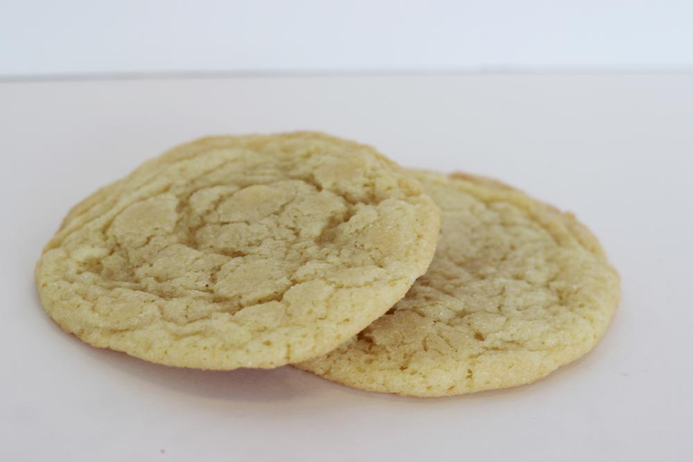 Lemon Crinkle Soft lemon sugar cookie rolled in organic sugar.