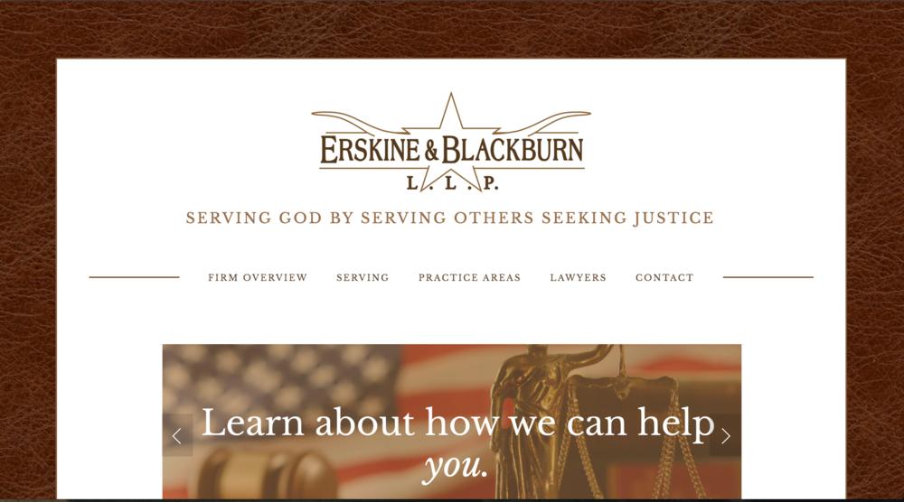 ERSKINE & BLACKBURN - WEBSITE