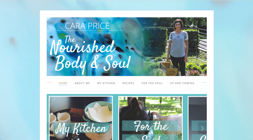 THE NOURISHED BODY & SOUL - WEBSITE