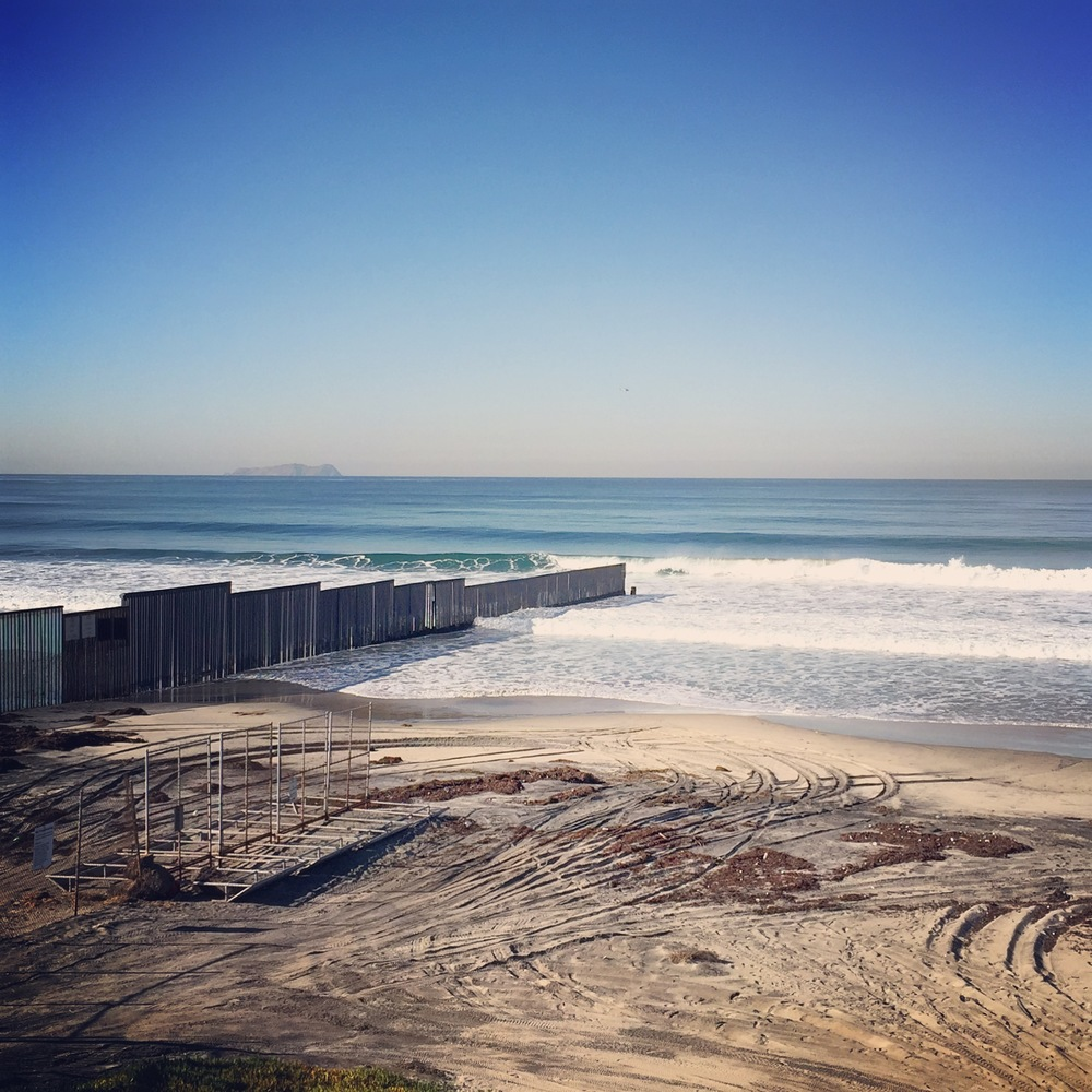 The southwestern most point in the continental United States. The western end of the US Mexico border fence. Great surf that day, BTW...