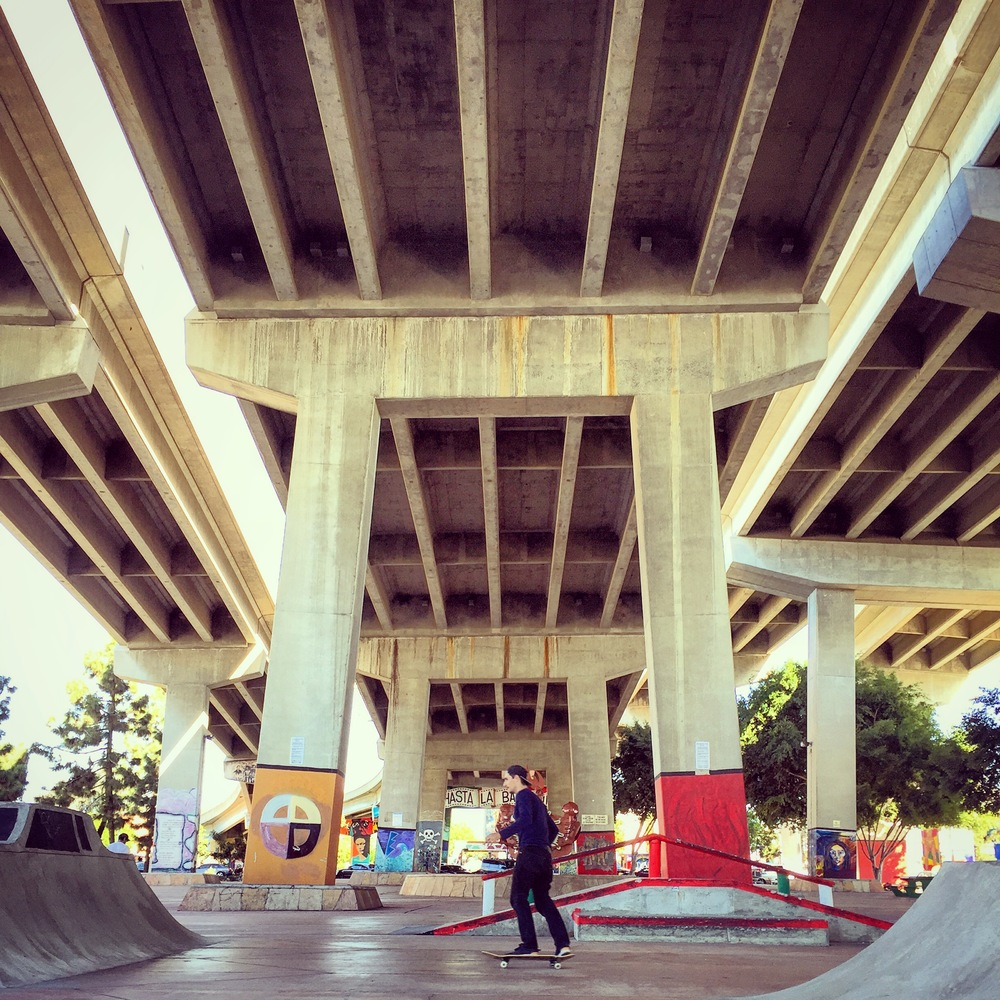 Chicano Park under the iconic Coronado Bay Bridge is one of my favorite under appreciated San Diego locales. This year the city officially recognized it as a skate park too.