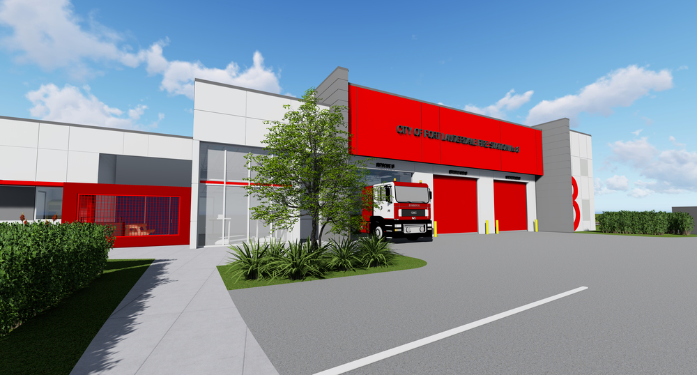 CPZ Architectu0027s Is Currently Working On The Construction Documents For The  City Of Fort Lauderdale Fire Stations #8, Located In The Heart Of Fort  Lauderdale ...