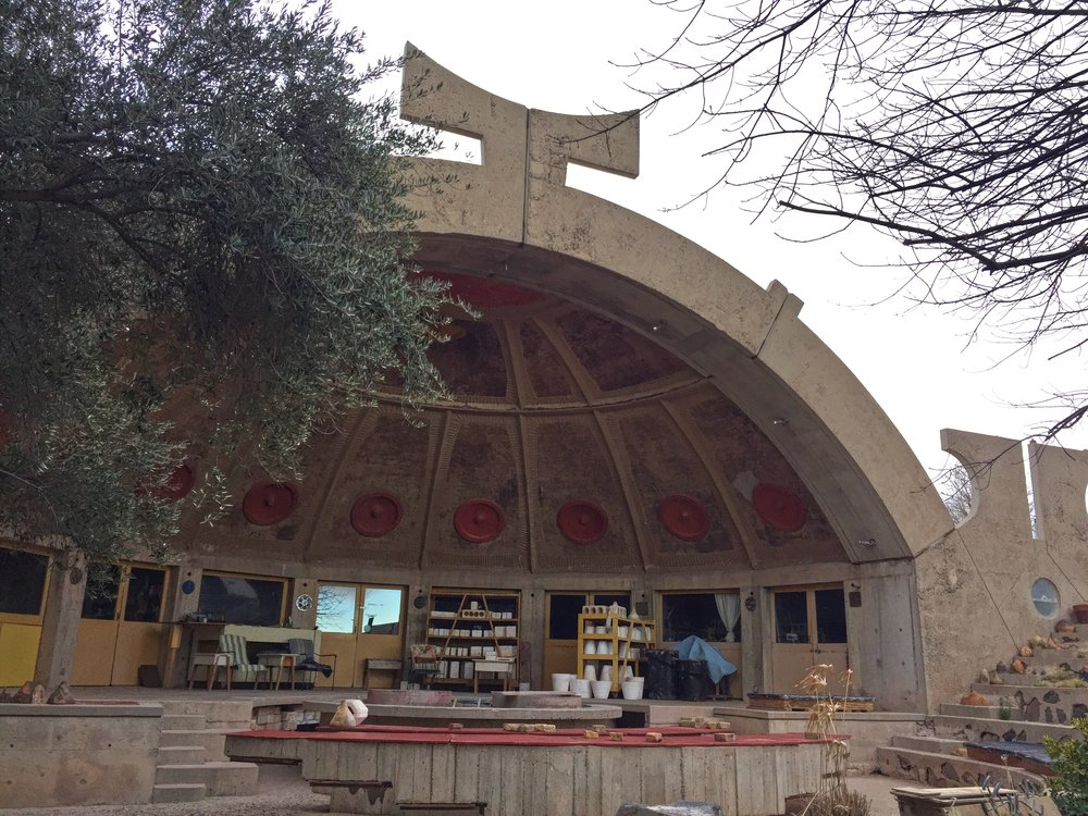 The iconic apse where ceramic bells are crafted