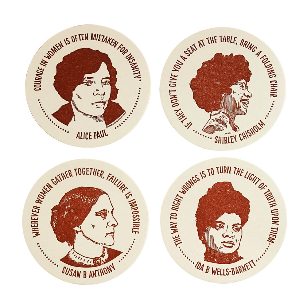 INSPIRING WOMEN COASTERS // $9