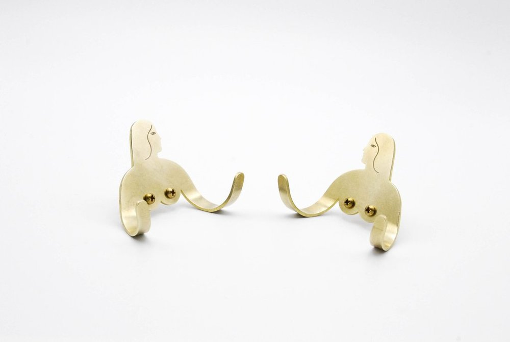 FEMALE SUPPORT SYSTEM, TWIN BRASS HOOKS // $92