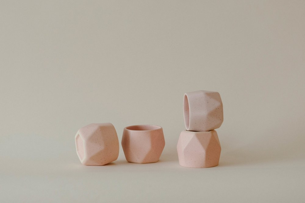 HEXAGONAL CERAMIC MUGS // $32 EACH