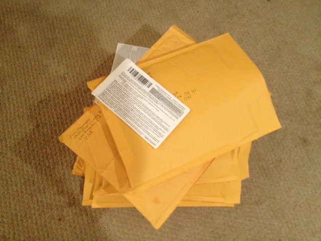 Stack of ARC envelopes photo