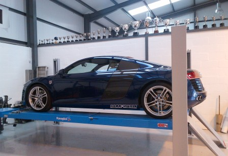 Computerised wheel alignment.