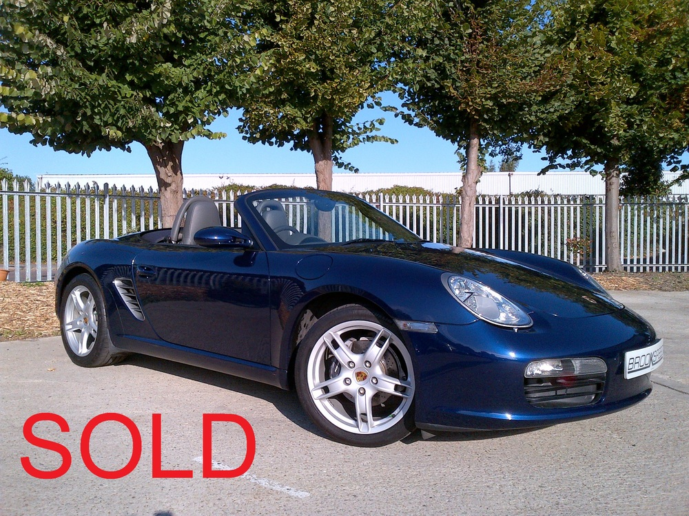 Immaculate example, Porsche Boxster 2.7 Tiptronic Blue Metalic, 2005, 16,800 miles  £ SOLD