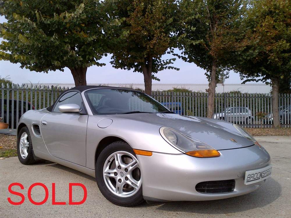 Porsche Boxster 2.5, Arctic Silver , Black Leather, 1997, 96,000 miles  £ SOLD