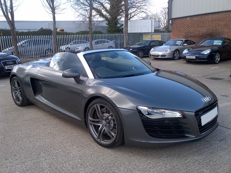 This Audi R8 was Red. Now Gunmetal metalic wrap.