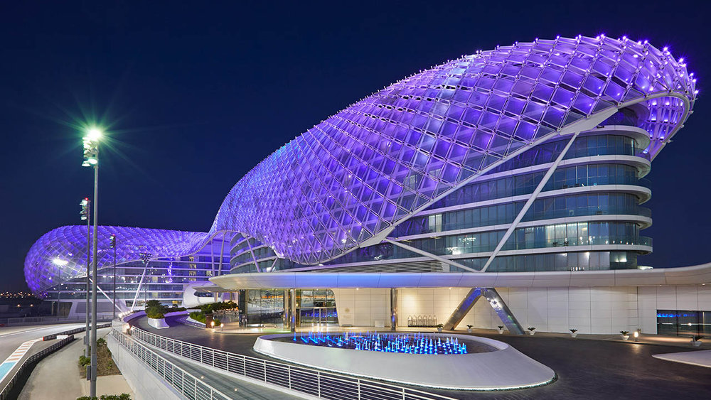 Stay at the magnificent Yas Viceroy hotel.