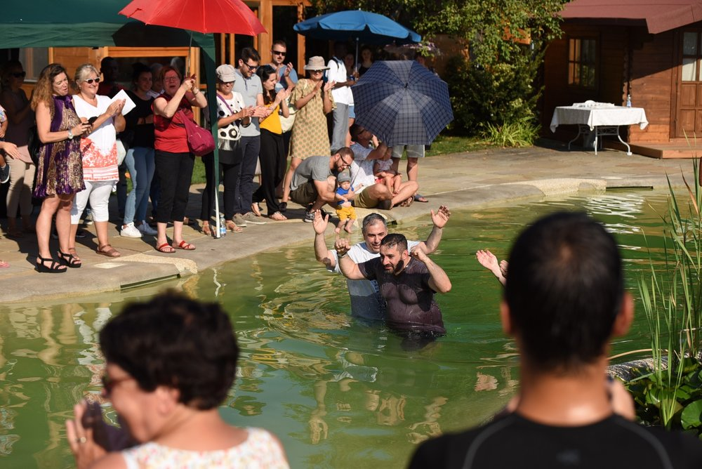 Victory: Daniele couldn't wait to be baptized. He had tears in his eyes the entire ceremony and testified to many to follow him as he is now following Christ.