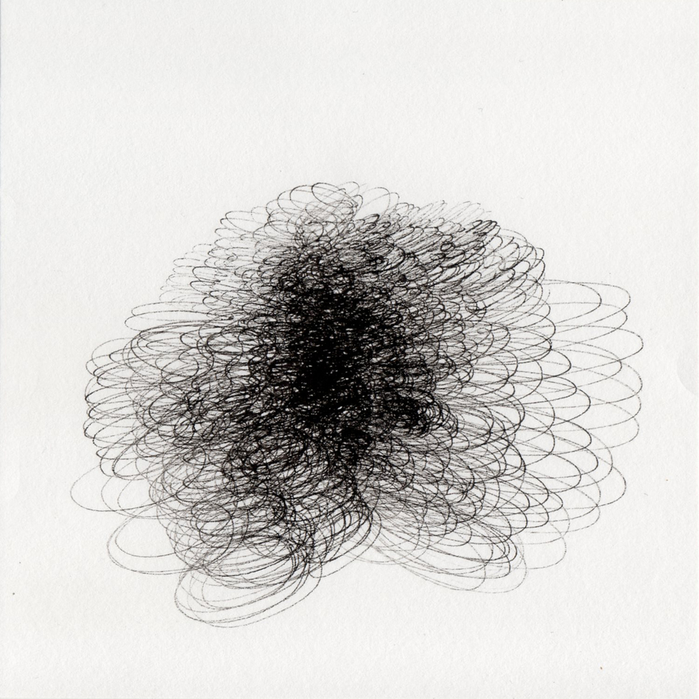 "blob 12  pen on paper 5"" x 5"" 2014"