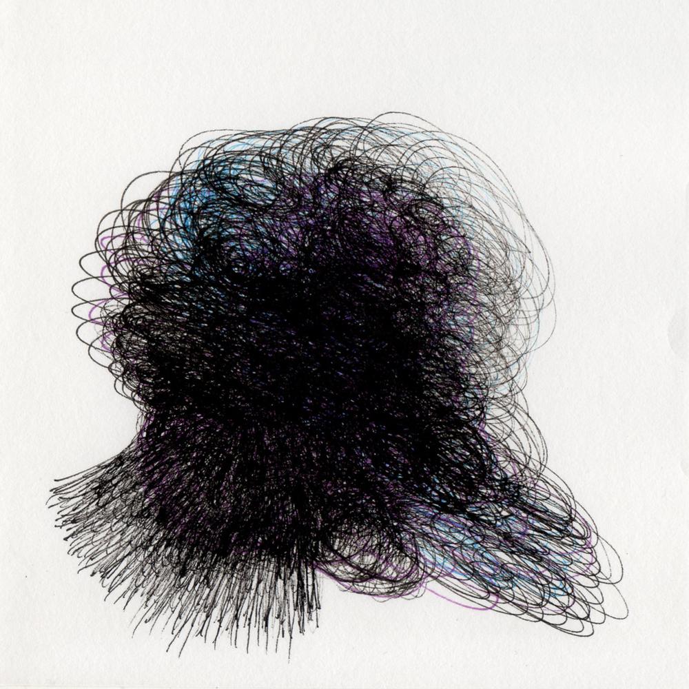 "blob 13  pen on paper 5"" x 5"" 2014"