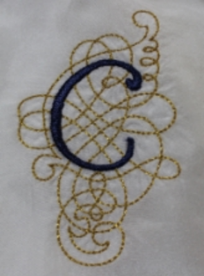 Swirly Initials Font by Anna Bove Embroidery