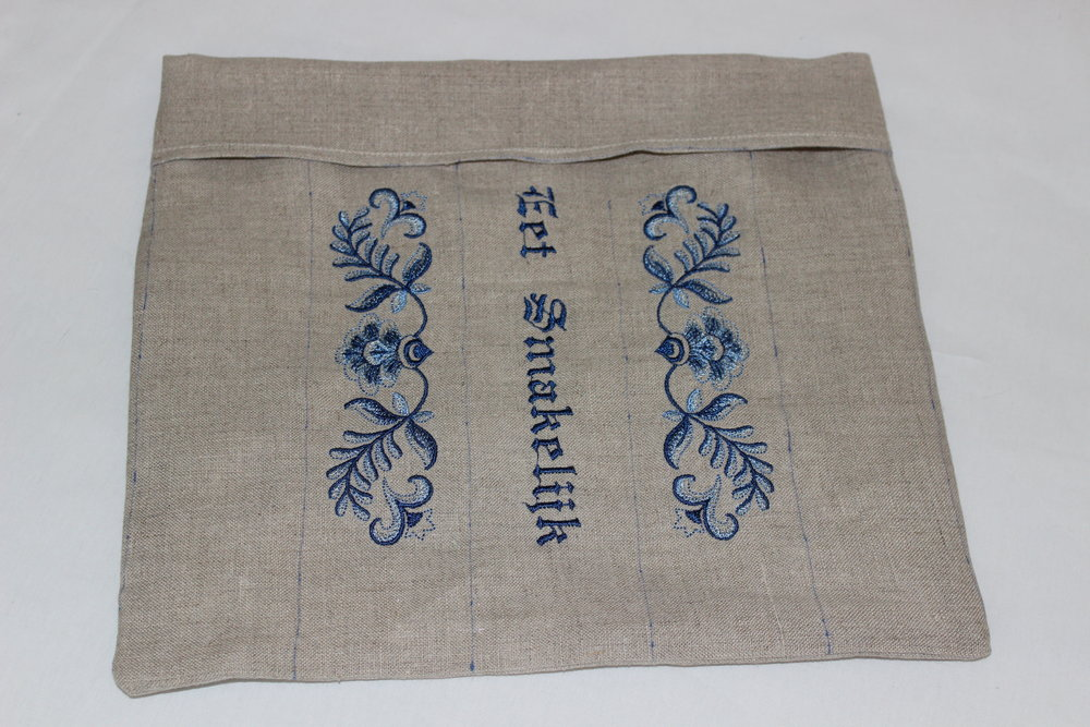Machine embroidery Design:  Delft Blue Floral Border  ( D7039 ) by  Embroidery Library   Built-in Font on the  Baby Lock Ellisimo Gold