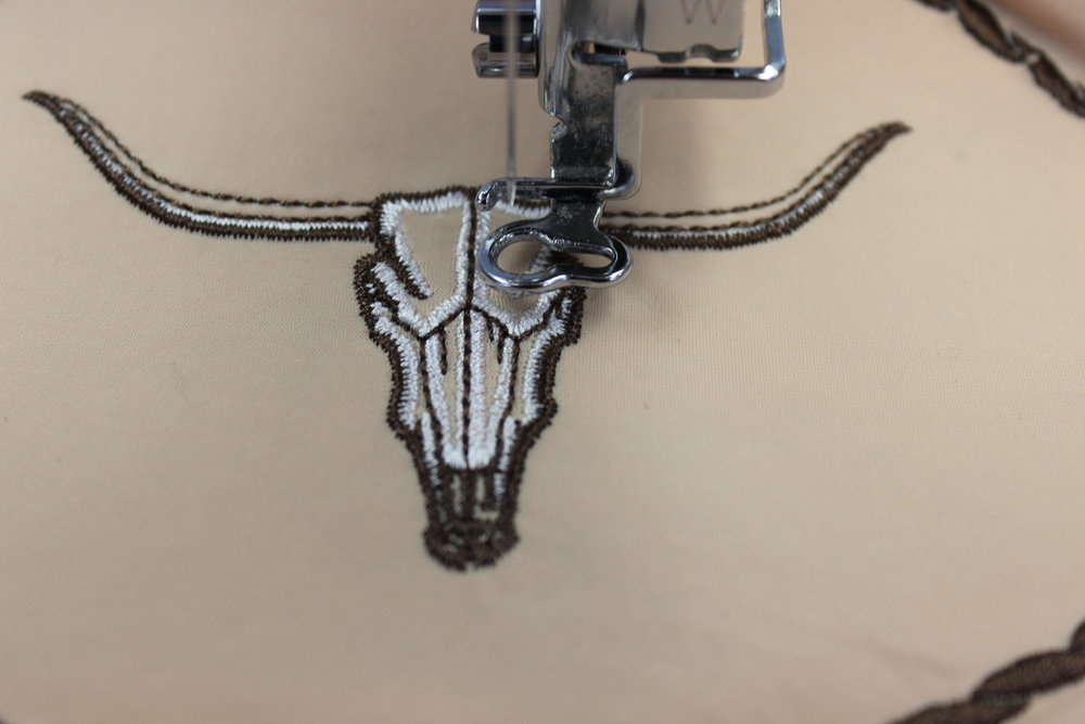 Longhorn Skull Single L4939 by Embroidery Library, Inc.,