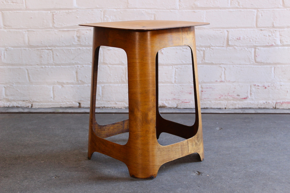 Isokon plywood stool - manufactured by Venesta