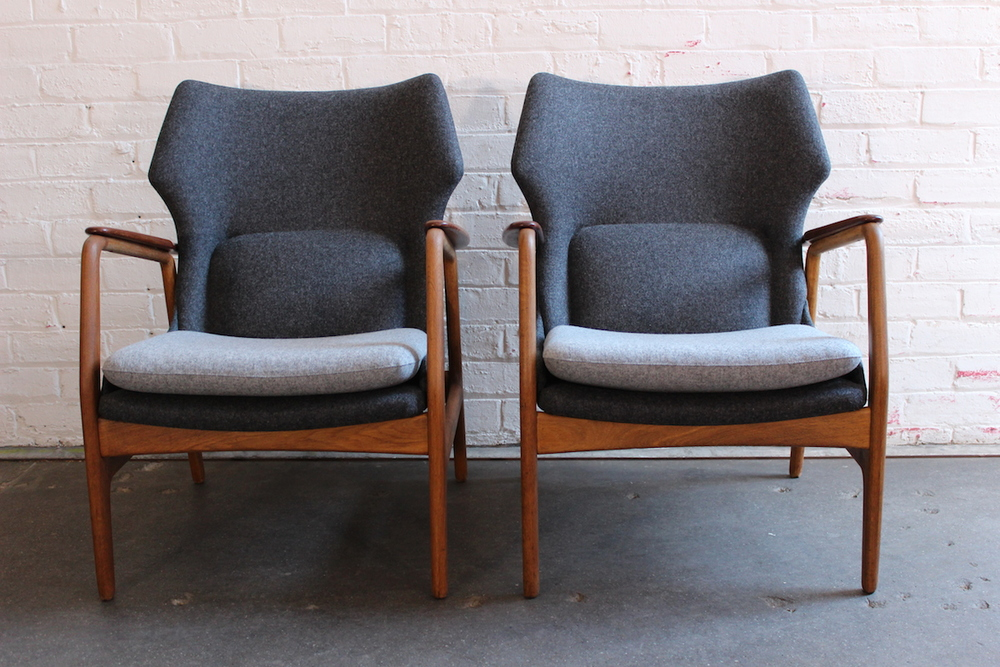 Pair of Bovenkamp lounge chairs - Aksel Bender Madsen