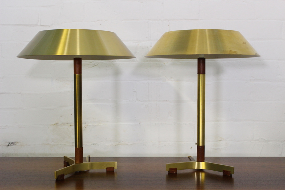 Pair of Johannes Hammerborg 'President' table lamps - Fog & Morup