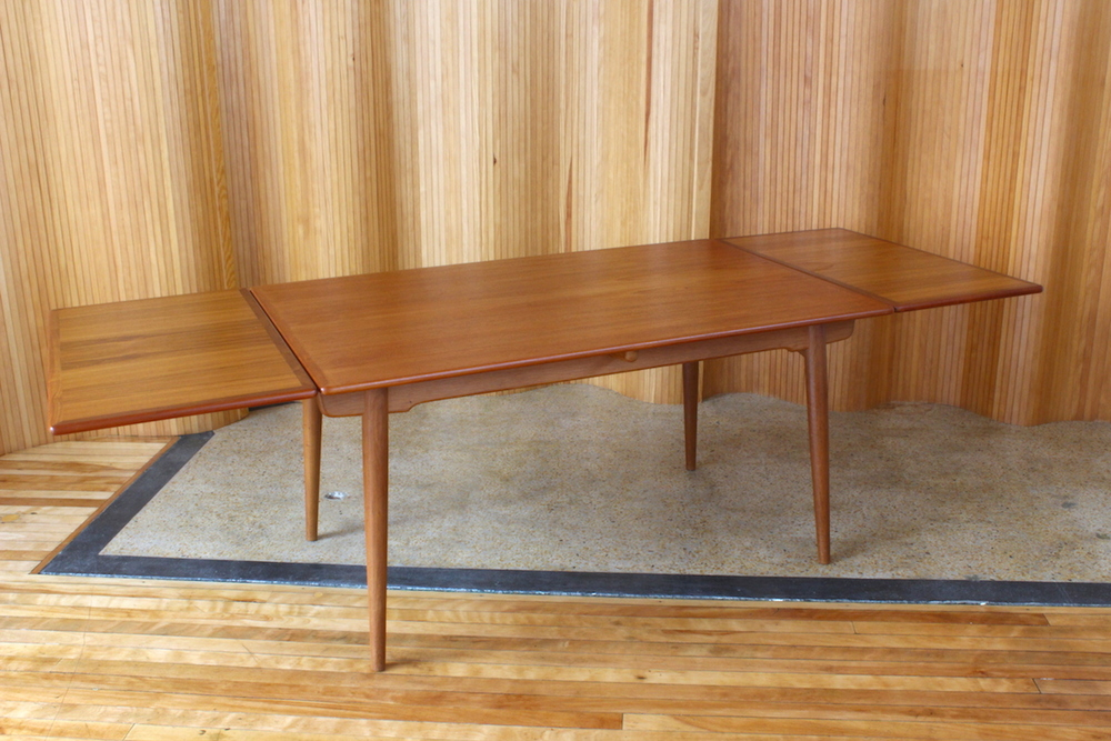 Hans Wegner teak/oak dining table - model AT312 - Andreas Tuck, Denmark.