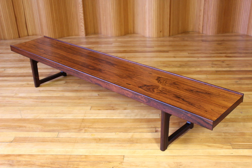 Torbjorn Afdal rosewood 'Krobo' bench - Bruksbo, Norway