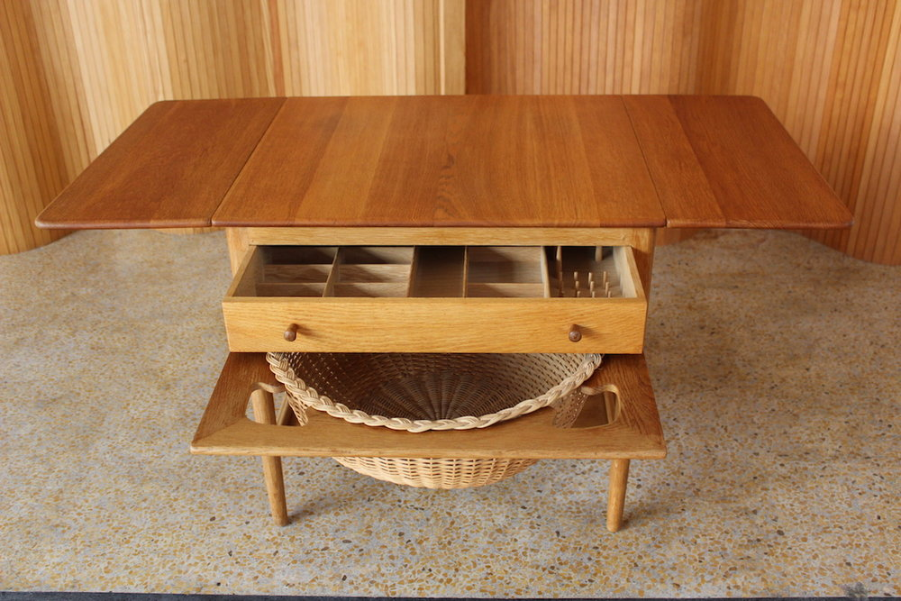 Hans Wegner oak sewing table - model AT-33 - Andreas Tuck 1949