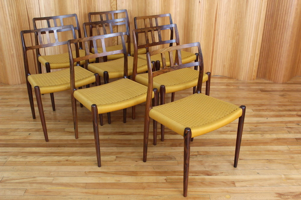 Set of eight Niels Moller model 79 rosewood dining chairs - JL Moller Denmark