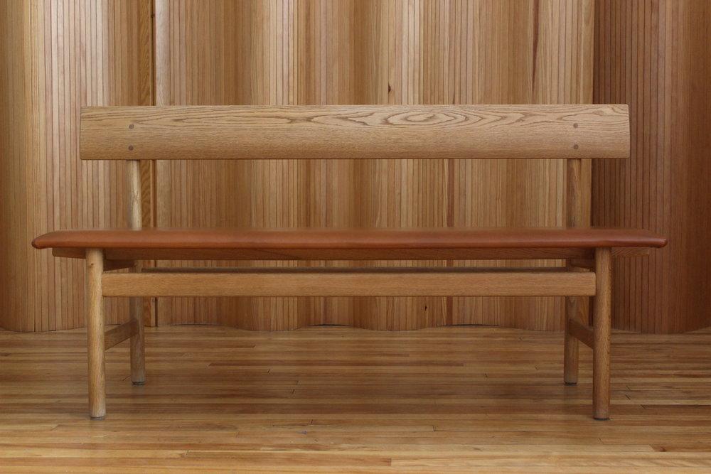 Borge Mogensen oak hall bench - Fredericia, Denmark