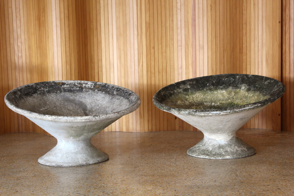 Pair of Willy Guhl concrete planters, Eternit, Switzerland
