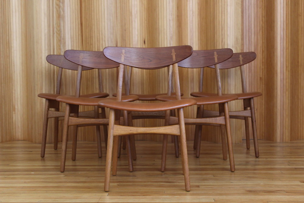 Set of six Hans Wegner CH30 dining chairs Carl Hansen & Son Denmark