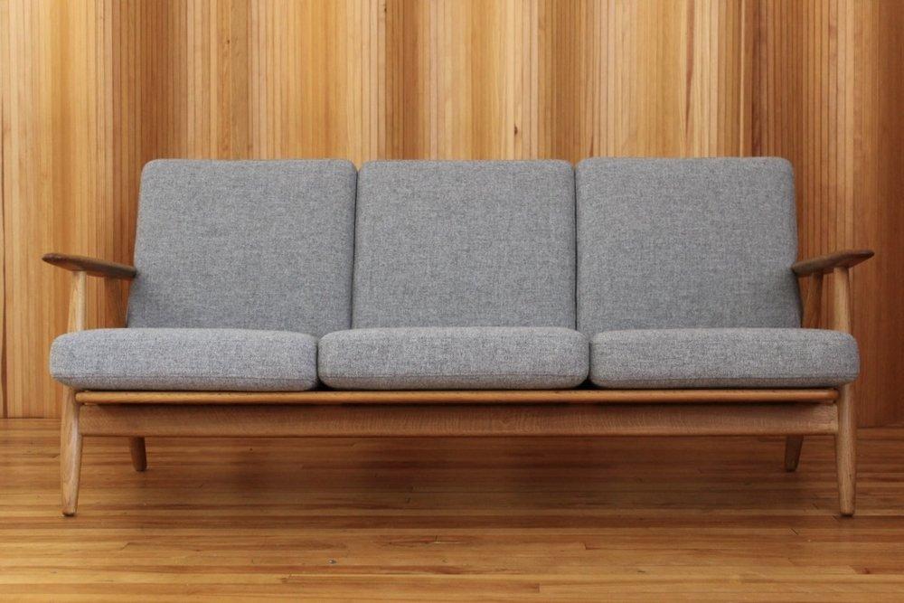 Hans Wegner GE240/3 'cigar' sofa Getama Denmark